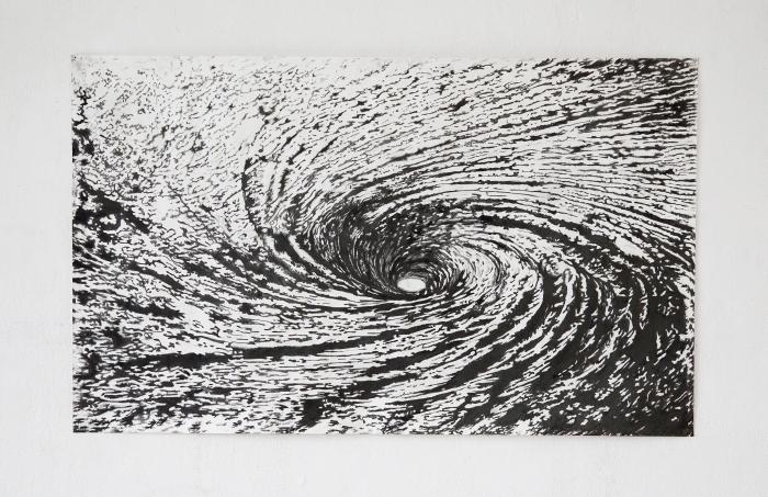 Maelström - 2013 Mine graphite sur papier 70 x 150 cm