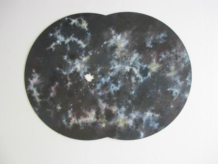 L'impact, 2013 120 x 160 cm Dessin marouflé sur bois.