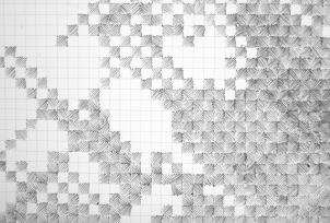 Cartographie de l'ennui - 2011 (détail) Stylo à bille sur papier imprimé 210 x 300 cm